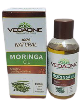 Vedaone 100ml / 3.38oz Moringa Oil Cold Pressed 100% Natural Shigru Olei... - $10.00
