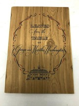 Leaves from Table of George & Martha Washington Taylor Winery NY 1940 co... - $14.50