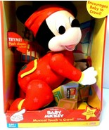 Disney Touch-n-Crawl Mickey Mouse Musical Baby Toy Mattel 1999 Red Outfit  - $58.03