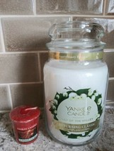 Yankee Candle 22 oz Lily Of The Valley  Bonus Votive Rare Hard to Find S... - $29.65