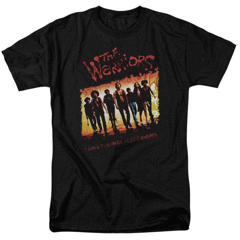 The Warriors t-shirt 1 gang 9 members retro 70's cult classic graphic tee PAR113