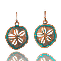 Antique Copper Bronze Cherry Flower Hollow Dangle Hanging Drop Earrings for Wome - $6.60