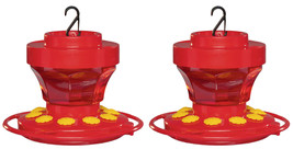 First Nature 3091 2-Pack 16 Ounce Hummingbird Nectar Flower Feeder with ... - $18.00