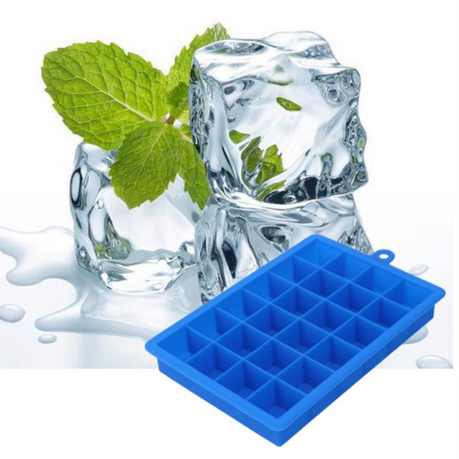 DIY Ice Cube Mold Square Shape Silicone Tray Fruit Ice Cream Maker Kitchen Tool