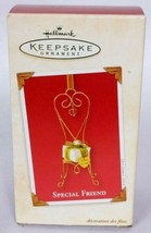Hallmark Keepsake Christmas Ornament Special Friend Chair With Gift 2003 - $14.19