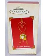 Hallmark Keepsake Christmas Ornament Special Friend Chair With Gift 2003 - $14.19