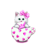 (02)35*35cm DIY Diamond Painting Embroidery Cute Cat Cartoon Animal Cat ... - €17,76 EUR
