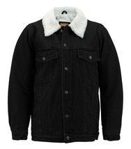 Men's Classic Button Up Sherpa Fleece Lined Cotton Denim Trucker Jean Jacket image 11