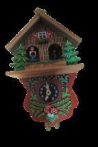 Vtg German Black Forest Miniature Pendulum Clock Quartz movement W/Key ... - $59.40