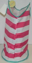 Viv And Lou Large Pink White Striped Beach Tote Bag Polyester image 2