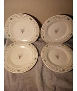 (4)  PFALTZGRAFF  PERENNIALS  SALAD PLATES---FREE SHIP-VGC - $32.57
