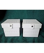 m398x 2 DIESEL White Watch Boxes for Presentation Storage Display 4x4 Empty - $39.59