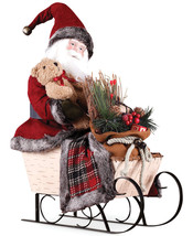 Napco Santa in Sleigh Figurine Fabric/porcelain/metal - $63.35