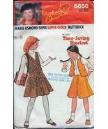 "Butterick Pattern 6656 Girls' Vest & Skirt ""Marie Osmond"" - $1.75"
