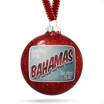 NEONBLOND Christmas Decoration Greetings from Bahamas, Vintage Postcard ... - $29.41