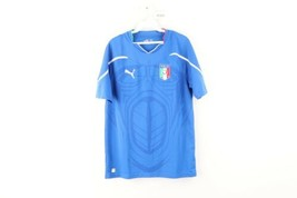 Puma Mens Size Medium Italia FIGC Italy World Cup Soccer Jersey Football... - $49.45