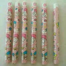 Sanrio Vintage Little Twin Stars Retro Mini Pencil Set Of 6 New Rare - $33.46