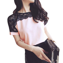 Women Blouses Summer Lace Chiffon Blouse Casual Blusa Feminina Tops Fash... - $15.80