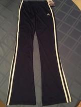 Girls New Size 14/16 adidas sweatpants straight leg blue athletic sports - $21.25