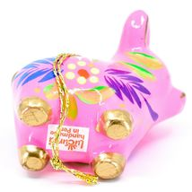 Handcrafted Painted CeramicPink Pig Confetti Ornament Made in Peru image 6