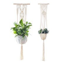 Plant Hanger Set Hanging Planter Wall Art Vintage For Home Garden Decor ... - $534,89 MXN