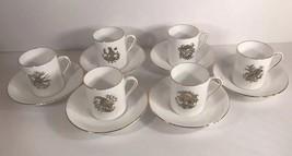 Royal Tuscan 6-Fine English Bone China Cup & Saucer Espresso/Demitasse (... - $74.25