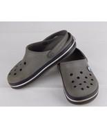 Crocs clogs youth kids crocs band unisex gray white size C 12 - $11.20