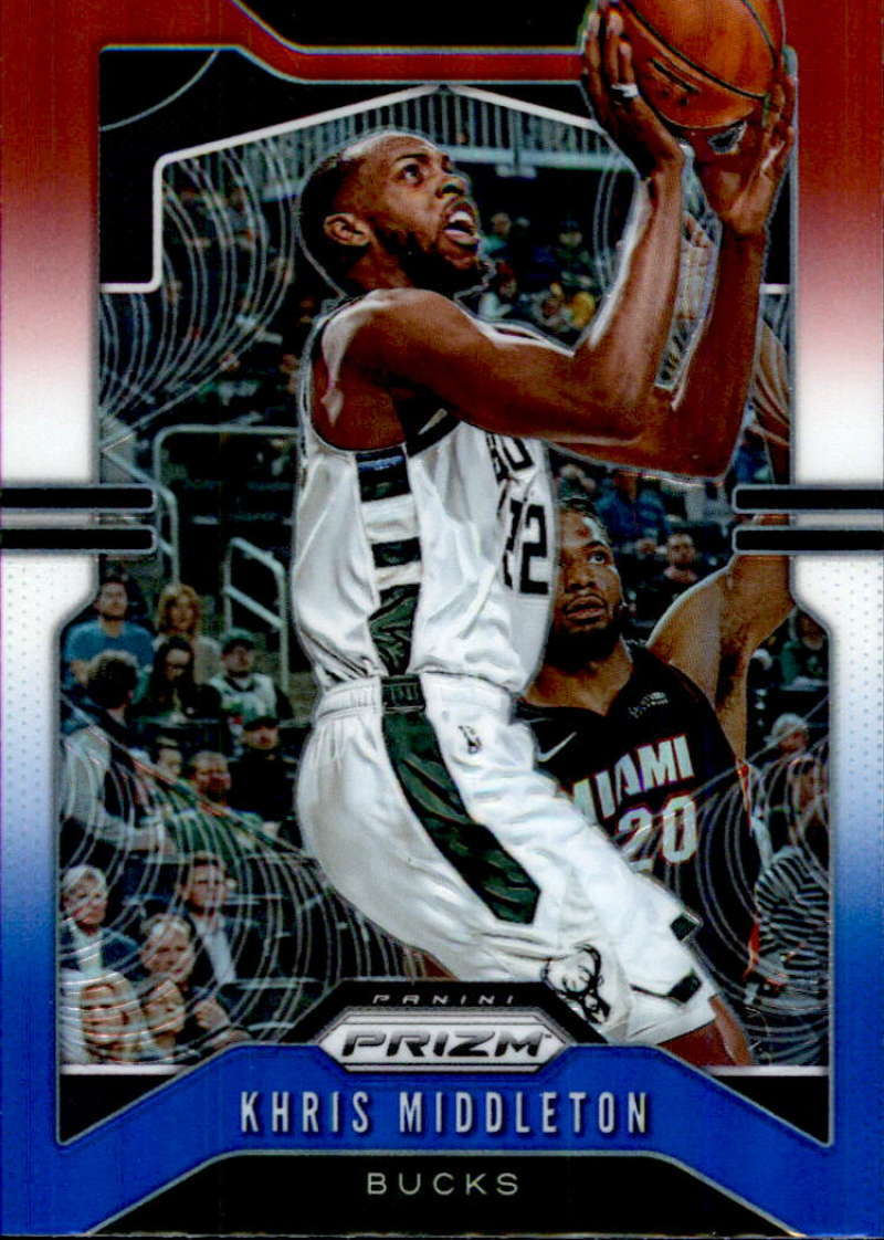Primary image for 2019-20 Panini Prizm Prizms Red White and Blue #235 Khris Middleton Bucks