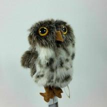 Owl Owlet Finger Puppet Plush Folkmanis Puppet Spotted Stuffed Animal Puppet  - $21.77
