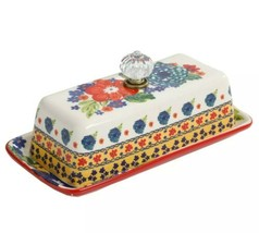 "The Pioneer Woman ~ ""Dazzling Dahlias"" Multicolor Covered ~ Retro ~ Butt... - $39.60"