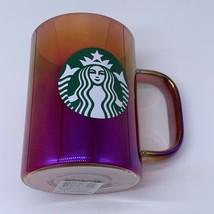 Starbucks 2019 Holiday Mug Iridescent Glass 14oz Christmas Red Cup NEW - $30.54