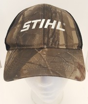 Stihl Chainsaws Camo Realtree Hardwood Hunt Black Mesh Hat Cap STIHL Cam... - $24.70