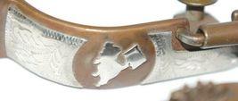 Metalab 280200 ladies Antique Color Concave Barrel Racer Spurs Engraved Trim image 4