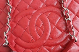 BRAND NEW AUTH CHANEL QUILTED CAVIAR GST GRAND SHOPPING TOTE BAG WITH RECEIPT image 4