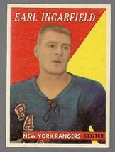 1958-59 Topps #18 Earl Ingarfield Rookie Card VG-EX - $14.34