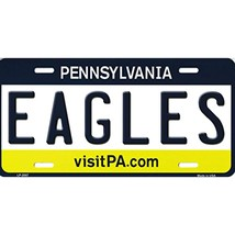 Pennsylvania State Background Novelty Metal License Plate Tag (Eagles) - $12.95