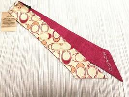 Rare COACH SILK PONYTAIL SCARF Reversible + Bling in Multi, Bag, Hair Ti... - $37.62