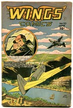 WINGS COMICS #70 1946-FICTION HOUSE-LEE ELIAS-PHANTOM F VG+ - $74.50