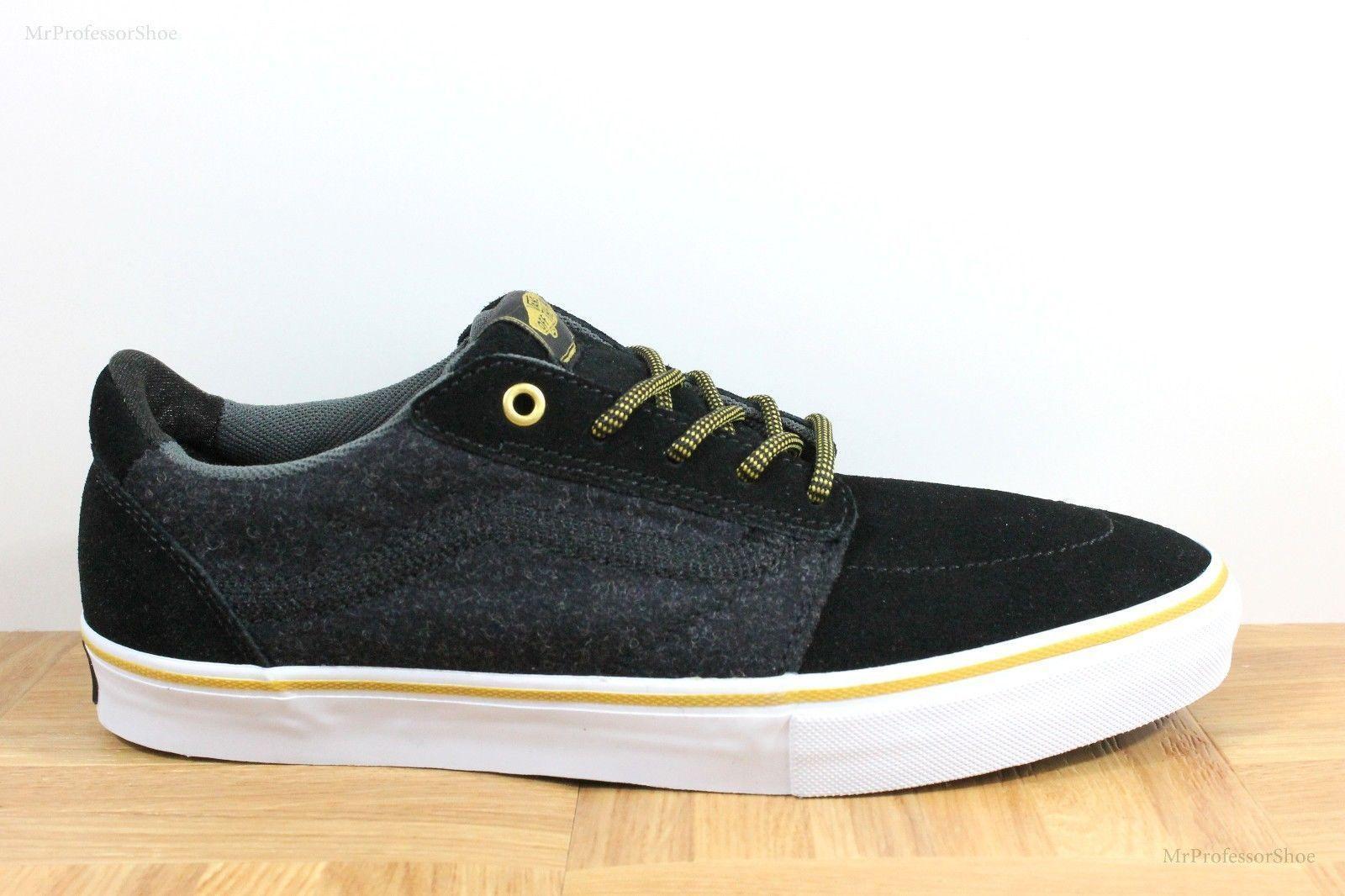 Vans Lindero (Wool) Black/Gold Skate Shoes MEN'S 7.5 WOMEN'S 9 image 2