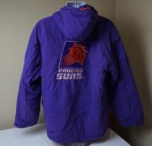 Vintage 90s NBA Phoenix Suns Basketball Starter Parka Jacket With Hood L... - $29.69