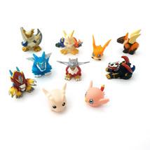 Bandai Digimon Adventure 02 Mini Figures Gashapon 10 pcs Imperialdramon Omegamon - $47.00