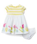 NWT Gymboree California Dreamers Striped Fruit Border Dress Baby Girl Ye... - $19.79
