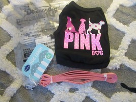 DroolingDog Pink Pet T-Shirt for Small Dogs - XS & Blueberry Pet Leash -... - $14.01