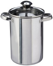Stainless Steel Tall Asparagus Steamer Pot with Basket Induction Ready w... - $39.07