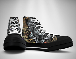 One eye Tattoos  Canvas Sneakers Shoes - $49.99