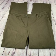 Talbots Women's Signature Straight Pants Green Work Career Size 14 - $25.96