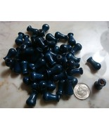 50pcs Blue stained wood vase shaped beads Prayer bead strand transition ... - $2.95