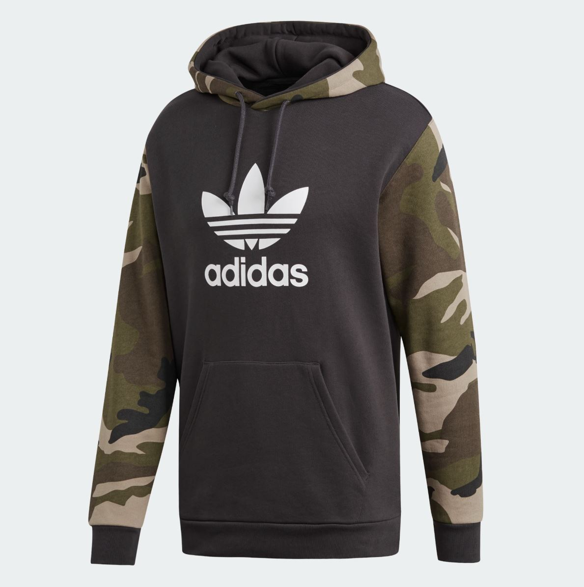 Primary image for New Adidas 2019 Men Camouflage Hoodie Camo Pullover Jacket Trefoil DV2023