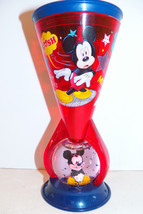 Walt Disney Store Mickey Mouse Spinning Glitter Water Snow Globe Red Sip... - $19.99
