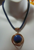 Signed Mika Blue Snake Chain Pendant Necklace - $19.31